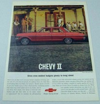 1963 Print Ad Chevy II 300 4-Door Red Sedan Hotel,Men,Kids Chevrolet - $13.85