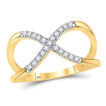 10kt Yellow Gold Womens Round Diamond Split-shank Infinity Ring 1/6 Cttw - $299.19