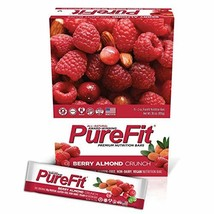 PureFit Berry Almond Crunch Premium Nutrition Bars, 15 Count | 18G Protein, Perf