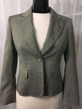 Anne Klein Women's Blazer Gray Fully Lined 1 Button Luxurious Size 4P NWT - $59.87
