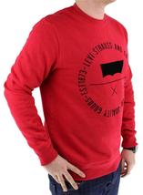 Levi's Men's Premium Classic Graphic Cotton Sweatshirt Red 3LVYM1111F image 4