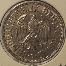 KM# 110 1950-D West German 1 Mark Coin AU #0591 - $13.99