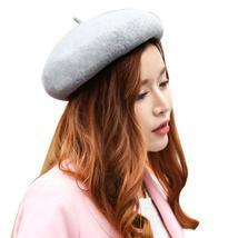 winter Women's caps Blending Elegant Artist Solid Beret Hats Warm Comfor... - $16.28