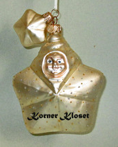 Department 56 Snowbaby Star Blown Glass Orn & Additional Small Star Ornament - $12.55