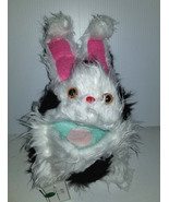 F5 * Professional White w/ Black Spots Muppet Style Ventriloquist Bunny ... - $15.00