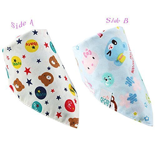 Lovely Bear Cotton Double Layer Saliva Towel Adjustable Baby Neckerchief 1611""