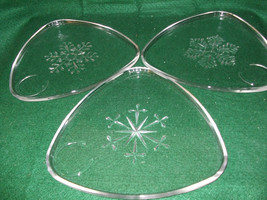 Indiana Glass Snowflake Snack Set---1950s - $20.00