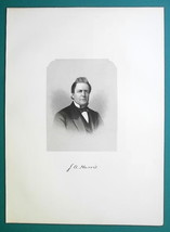 JOSIAH HARRIS Massachusetts Born Journalist & Businessman - 1881 Portrai... - $19.80