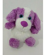 Russ Berrie Plush Yummy Luvvies purple white Brooke Berry scented puppy dog - $12.86