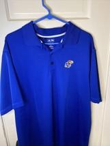 adidas climalite - The University Of Kansas Jawhawks Polo Golf Shirt - S... - $17.33
