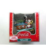 Coca-Cola Train Engine with Polar Pal Elf Chrome Plated Porcelain Coke O... - $5.99