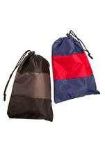 NEW MANCINI PACK EM IN SET OF 2 LIGHTWEIGHT LUGGAGE TRAVEL SHOE BAGS BLUE - $12.82