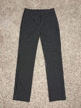 Express Editor Slim Pants Size 00 Reg Inseam 31 Black White NWT $79 - $26.13