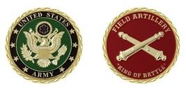 "ARMY FIELD ARTILLERY KING OF BATTLE  1.75"" CHALLENGE COIN - $16.24"