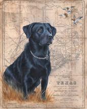 Black Lab Map by Patty Pendergast Dog Pet Canine Canvas Print 32x40 - $395.01