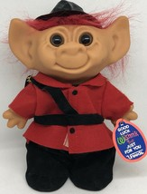 "Vintage Uneeda Wishnik Troll Vinyl Doll 8"" Canadian Royal Guard British ... - $23.09"