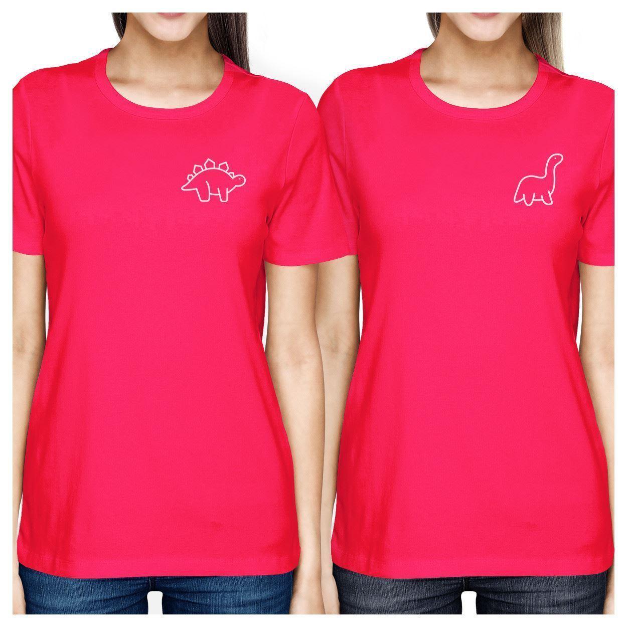 Dinosaurs BFF Matching Hot Pink Shirts - $30.99 - $32.99