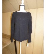 $54.50 Style & Co Cotton Bell-Sleeve Sweater, Deep Black, Large - $23.02