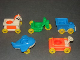 Fisher Price Little People: 656 Little Riders Wagon Plane Train Horse Tricycle - $12.00