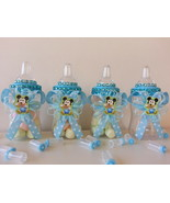 12 Baby Mickey Mouse Fillable Bottles Baby Shower Favors Prizes ~Boy Dec... - $18.99