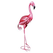 "Pink Flamingo Metal Lamp - Tall Decorative Desk Table Light - 28.5"" High - $47.57"
