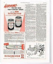 1948 1/2 Page Magazine Ad WINCHESTER Batteries And Flashlight - $0.99
