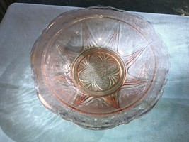 Pink Royal Lace Depression Glass Vegetable Bowl - $23.99