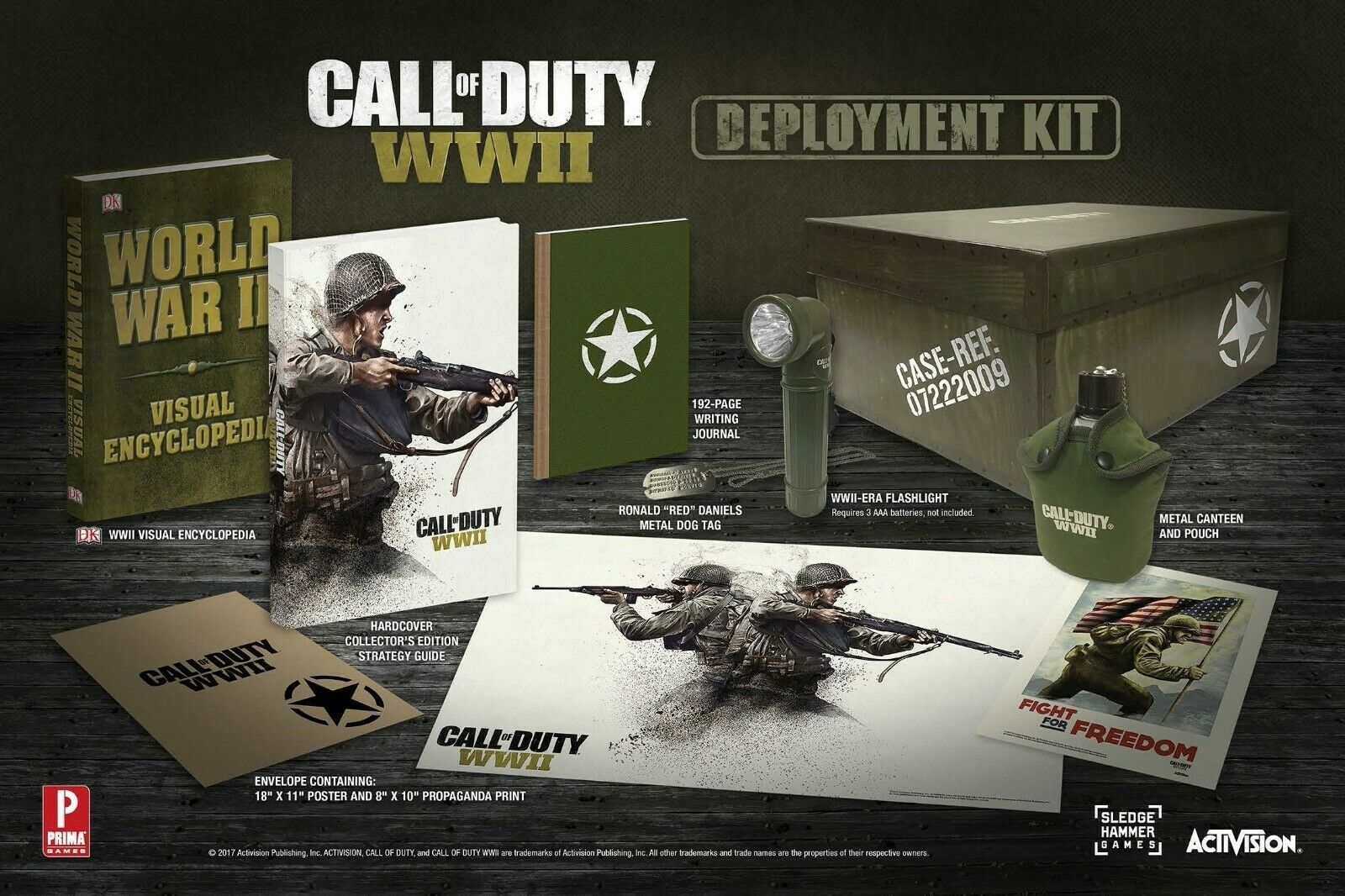 Primary image for Call of Duty WWII Deployment Kit Limited Collector's Edition New Factory Sealed