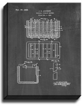 Electric Storage Battery Patent Print Chalkboard on Canvas - $39.95+