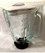 Oster 5 cup/1.25L Square Top Glass Replacement Jar/Pitcher w/Lid/seal/bl... - $18.69