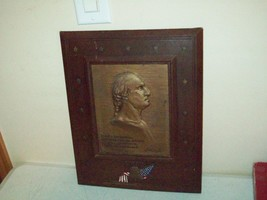 vintage George Washington Leatherette wall plaque J.K. Smith Co. circa 1... - $24.75