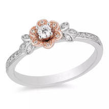 Enchanted Disney Jewelry 2.00Cts White Diamond Belle Ring 925 Silver Ring - $79.99