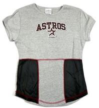 Junior Women's Houston Astros Shirt MLB Baseball Tee Heather 5th & Ocean NEW