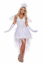 Dreamgirl Angel Beauty Dress Wings Crown Adult Womens Halloween Costume ... - $81.36