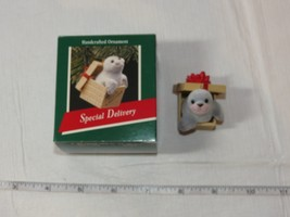 Hallmark  Keepsake Ornament Handcrafted Special Delivery Seal 1989 Pre-O... - $29.69