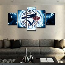 5 Piece Toronto Blue Jays Sport Team Canvas Painting Wall Art Home Decor - $28.00+