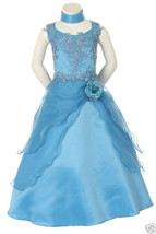 New little Girl Pageant  Wedding Graduation Prom Party Formal Dress Blue... - $76.31+