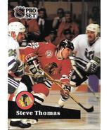 Steve Thomas ~ 1991-92 Pro Set #45 ~ Blackhawks - $0.05