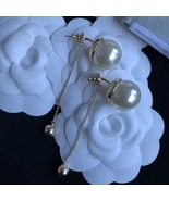 Authentic Christian Dior 2017 Limited Edition Long Pearl Dangle Drop Ear... - $429.99
