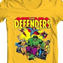 The Defenders T Shirt vintage retro Marvel comics Valkyrie Nighthawk gold tee image 1