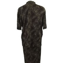 KSL Karin Stevens Sleeveless Maxi Dress and Jacket Size 14W Brown Animal Print image 6
