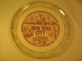 "10"" PORCELAIN SOUVENIR Collector Plate NEW YORK CITY Empire State Bldg [... - $17.28"