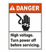 Danger High Voltage Sticker D1553 Electrical Safety Sign - $1.45+