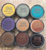 Maybelline Eyestudio Color Tattoo Pure Pigments Eyeshadow YOU CHOOSE .05z SEALED - $4.68+