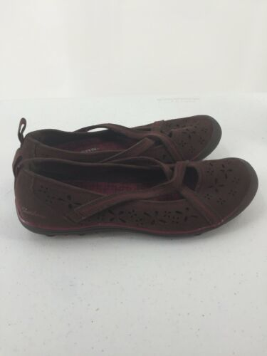 Skechers Womens 8M Shoes Wedge Wine Color Memory Foam image 6