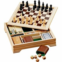 [FREE SHIPPING] - 7in1 Wood Desktop Game Board Set - Checkers, Chess, Ba... - $125.00
