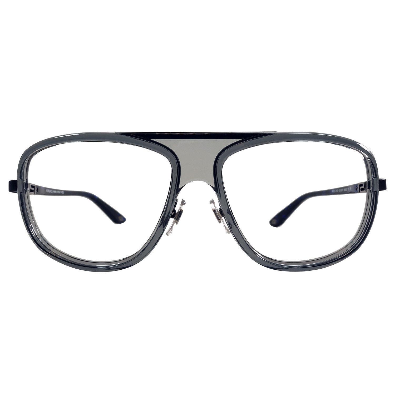 93d8b6c87a8d2 Versace 59-15-135 Translucent Grey and Dark Blue Eyeglasses VE 2133