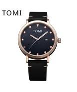 Tomi® Fashion Men Watch Luxury PU Leather Strap Quartz Women Watches Sup... - $18.81