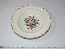 The Harker Pottery Co. Made in USA 22 KT Gold Trim 1 soup salad bowl 8 1... - $14.84