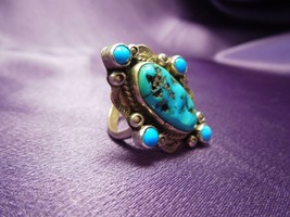 Carolyn Pollack Relios Sterling Silver Turquoise Ring, Size 7 3/4 Southw... - $49.50